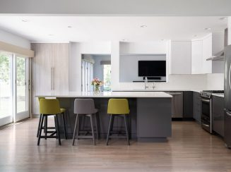 Wellsford Cabinetry Contemporary High Gloss Thermally Textured Kitchen